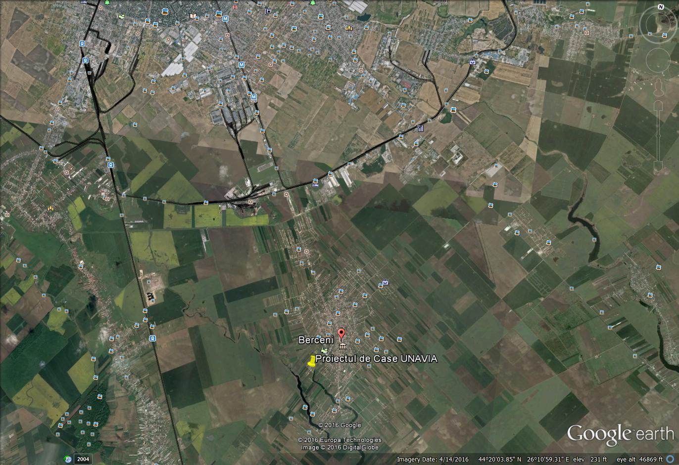 Proiect Case langa Bucuresti pe harta